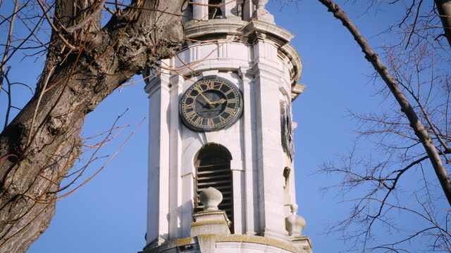 clock tower st paul's church in deptford, london - clock tower stock videos & royalty-free footage