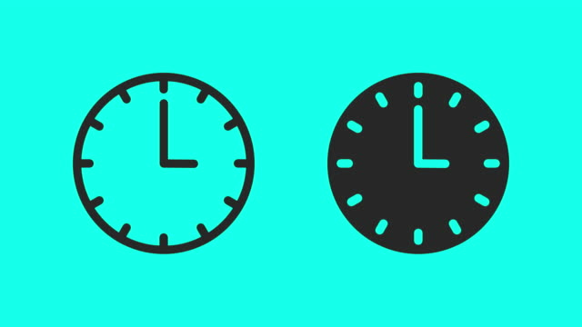 clock - vector animate - time stock videos & royalty-free footage