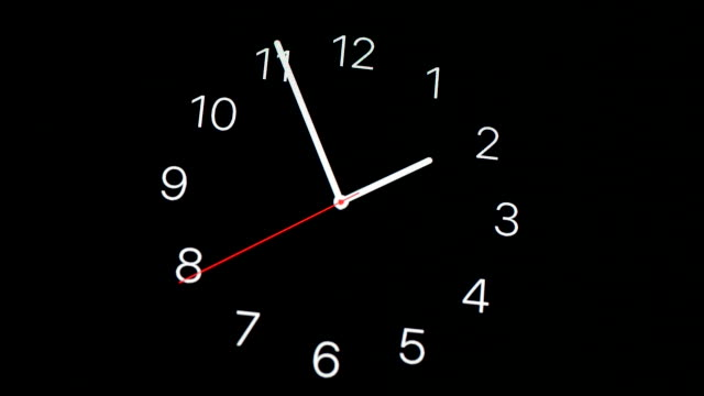 vidéos et rushes de clock - chiffre 6