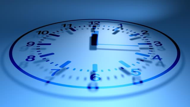clock (vector animation blue) - clock hand stock videos & royalty-free footage