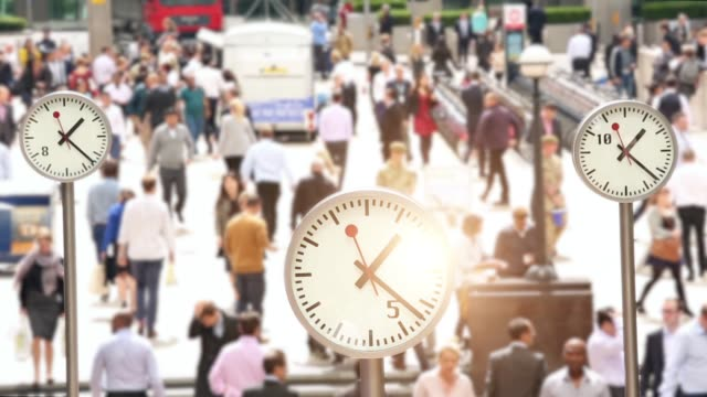 clocks in london, time lapse - fast motion stock videos & royalty-free footage