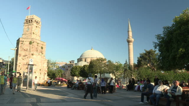 clocktower, antalya, turkey - dome stock videos & royalty-free footage