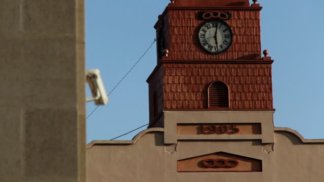 ms clocktower in small midwestern town / hooker, ok, united states  - clock tower stock videos and b-roll footage