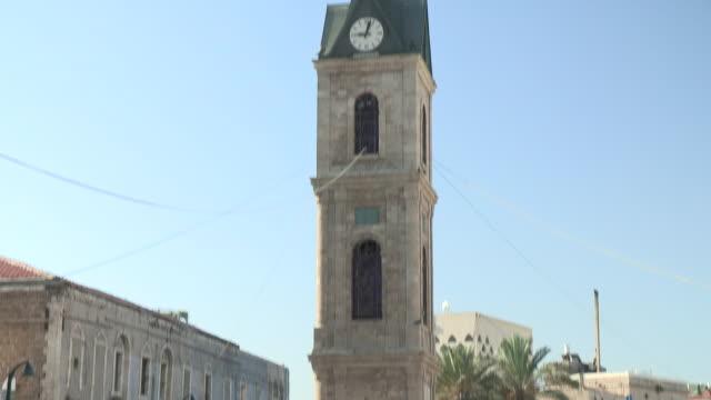 clocktower, jaffa, israel - ジャファ点の映像素材/bロール