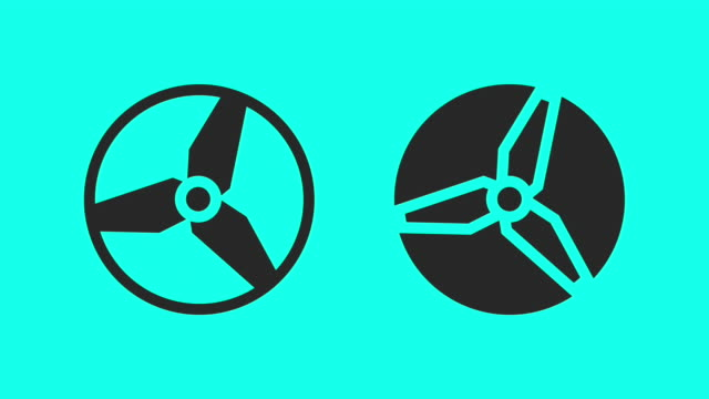 clockwise propeller - vector animate - vector stock videos & royalty-free footage