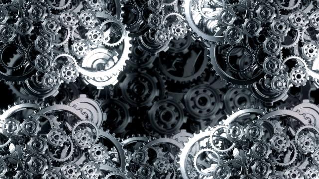 vidéos et rushes de horloge engrenages et pignons loop - rouage mécanisme