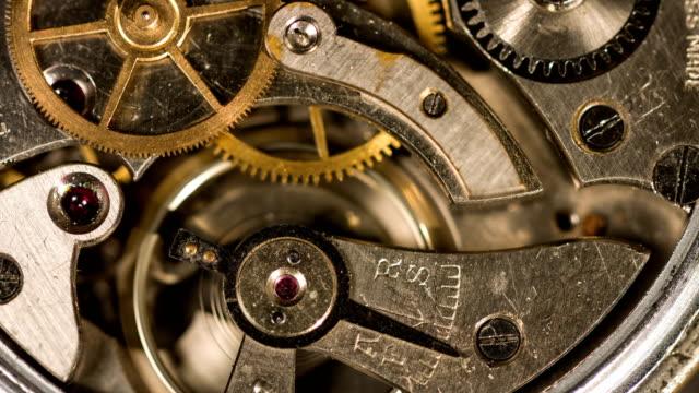 clockwork gears working - pocket watch stock videos & royalty-free footage