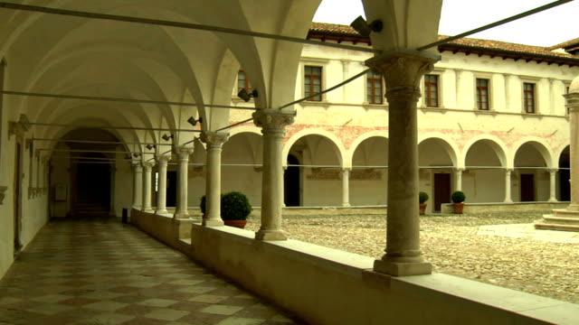 cloister of the monastery - nun stock videos and b-roll footage