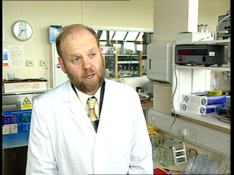 cloned sheep stv dr ian wilmut intvw been able to take cell from animal and use it to produce genetically identical twin - cloning stock videos & royalty-free footage