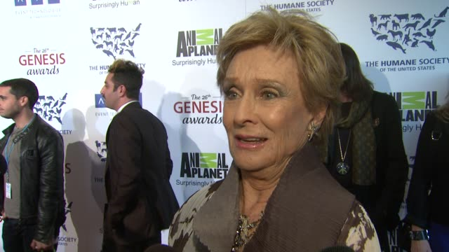 Cloris Leachman on how she began her work with animals the event at The 26th Annual Genesis Awards Presented By The Humane Society Of The United...