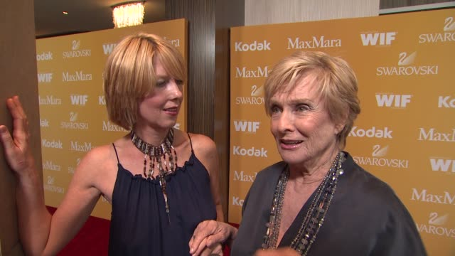 cloris leachman on why she wanted to celebrate wif and what women have been inspiring to her at 2012 women in film crystal lucy awards interview... - the beverly hilton hotel stock videos & royalty-free footage