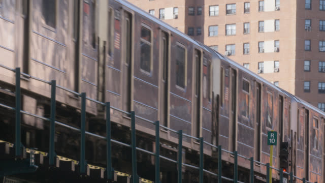 close angle of elevated train. - elevated train stock videos & royalty-free footage