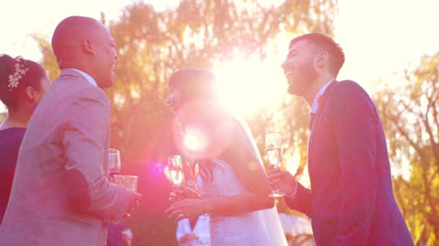 close family and friends made the day way more special - wedding reception stock videos & royalty-free footage