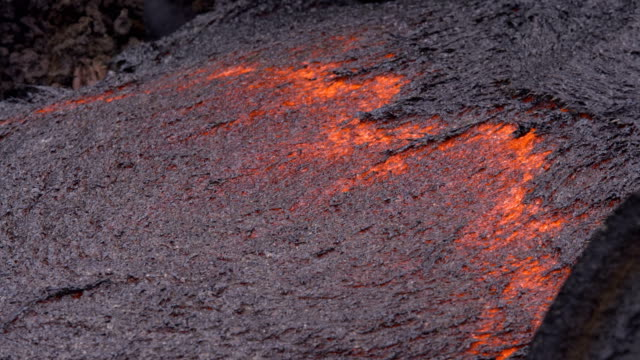 Close lava front Day daytime Glowing Hot flow from Kilauea Active Volcano Puu Oo Vent Active Volcano Magma