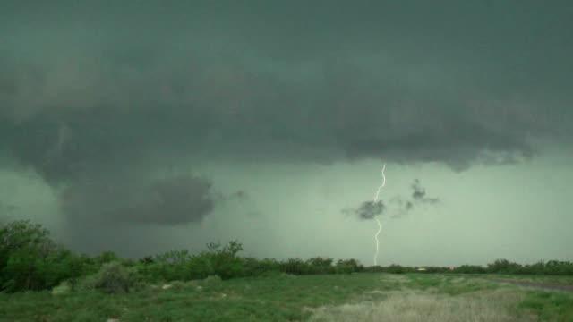 Close Lightning Strikes - Supercell Thunderstorm