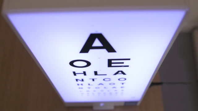 close on eye chart from above - type 1 diabetes stock videos & royalty-free footage