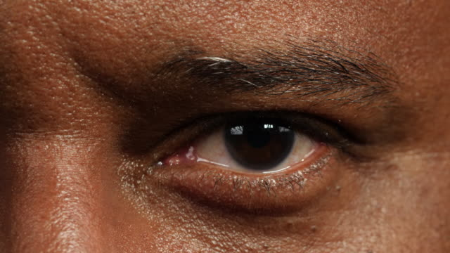 Close shot of a man's left eye.