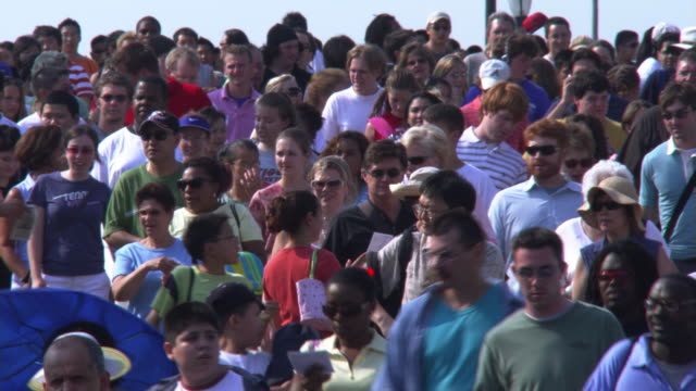 close shot of crowd on ramp - artbeats stock videos & royalty-free footage
