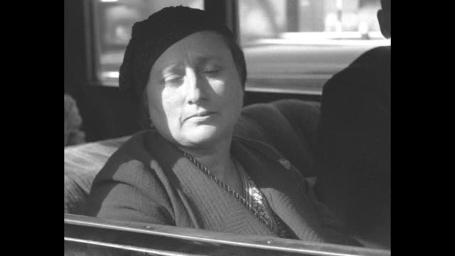 close shot of grace bagnato sitting in car; she has made legal claim to bequest in will of wealthy lawyer and financier charles vance millar awarding... - bagnato stock-videos und b-roll-filmmaterial