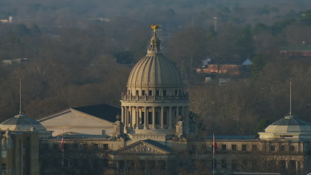 close shot of mississippi state capitol - jackson stock videos & royalty-free footage