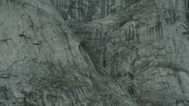 Close Shot Of Rugged And Steep Stone Cliffs