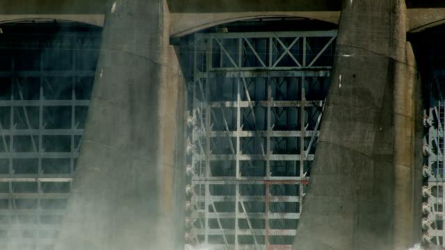 Close shot of spillway Bonneville Dam