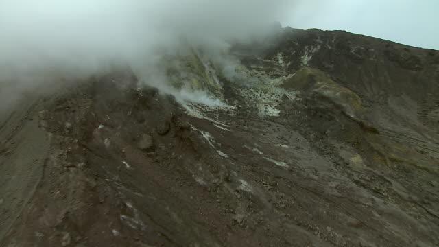 Close Shot Of Volcano On Montserrat