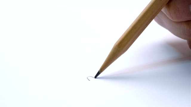 close uo shot of pencil breaking while writing - broken pencil stock videos & royalty-free footage