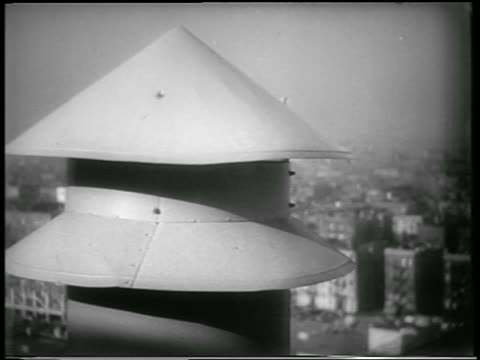 b/w 1951 close up air raid siren in nyc during civil defense drill / newsreel - 1951 stock videos & royalty-free footage