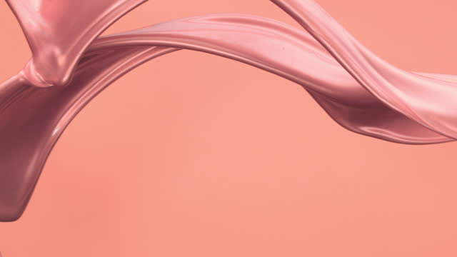 close up and slow motion of 2 metallic pink colored liquids flowing and throwing in air with splash against a pink background - toned image stock videos & royalty-free footage
