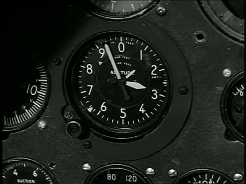 Close up arms on altitude dial turning round and round