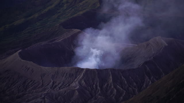 4k close up, beautiful of mt.bromo, indonesia in the morning. - indonesia volcano stock videos & royalty-free footage