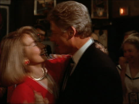 1992 close up bill clinton and hillary rodham clinton dancing at democratic national convention - bill clinton stock videos & royalty-free footage