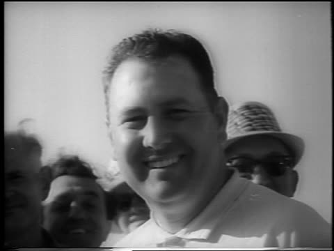 b/w 1962 close up billy casper smiling to camera outdoors after winning doralryder open / newsreel - doral stock videos and b-roll footage