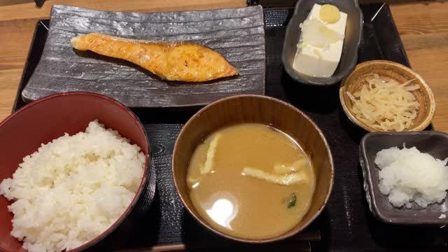 close up breakfast in japan - japanese food stock videos & royalty-free footage