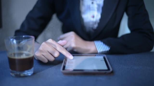 close up business woman using tablet and thumb up - job search stock videos & royalty-free footage
