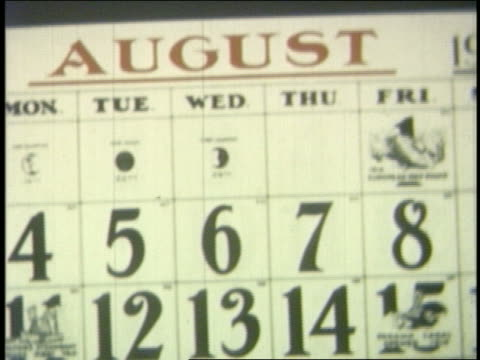 1954 close up calendar pages moving by in fall months - calendar stock videos & royalty-free footage