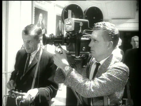 close up cameraman and soundman / 1960's / sound - film director stock videos & royalty-free footage