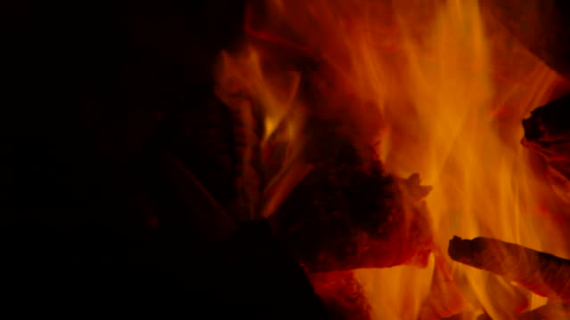 close up, campfire - lagerfeuer stock-videos und b-roll-filmmaterial