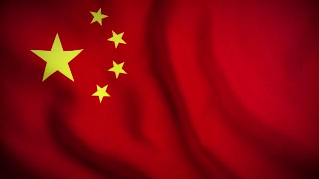 4k close up chinese flag waving stock video - bandiera della cina video stock e b–roll