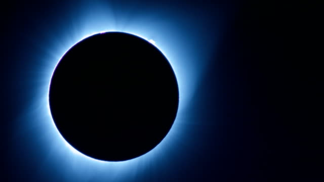 Close Up Corona During Totality from Total Solar Eclipse Over Oregon