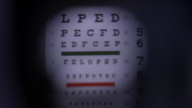 close up defocus point of view eye chart changing focus - optical instrument stock videos & royalty-free footage
