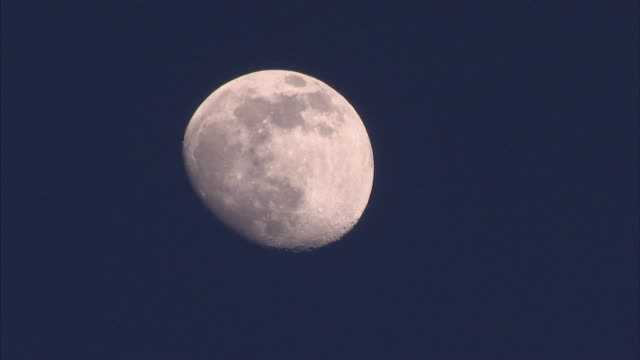 close up detail of bright moon - corno d'africa video stock e b–roll