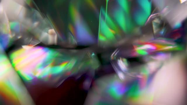 close up diamond fractile rainbow - visual effect stock videos & royalty-free footage