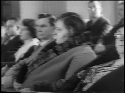 b/w 1935 close up pan dour jurors sitting at lindbergh kidnapping trial / flemington nj / newsreel - 1935 stock videos & royalty-free footage