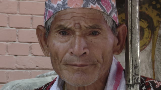 Close up, elderly Nepalese man