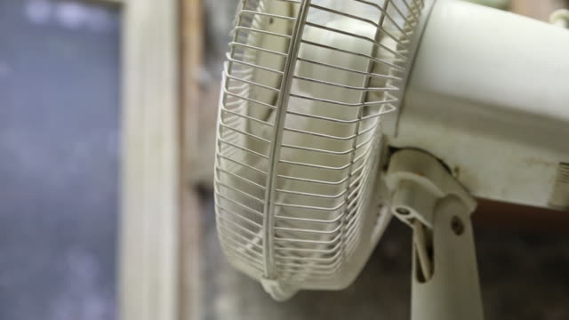 close up electric fan moves from side to side - electric fan stock videos & royalty-free footage