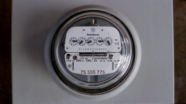 close up electric meter on house - gauge stock videos & royalty-free footage