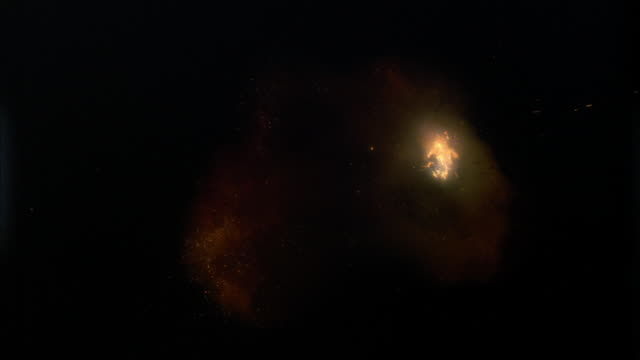 close up explosion against black backdrop / fireball exploding into bigger flame - fireball stock videos & royalty-free footage