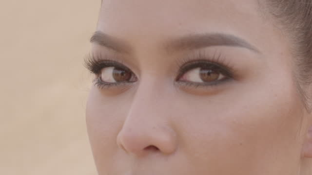 目若い女性アジアを閉じます。 - ベトナム点の映像素材/bロール